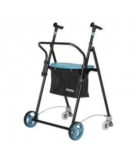 Andador 4 ruedas de acero plegable y diferentes colores